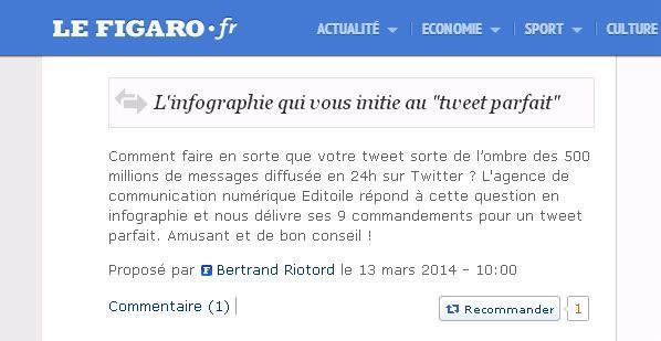 Le Figaro cite Editoile