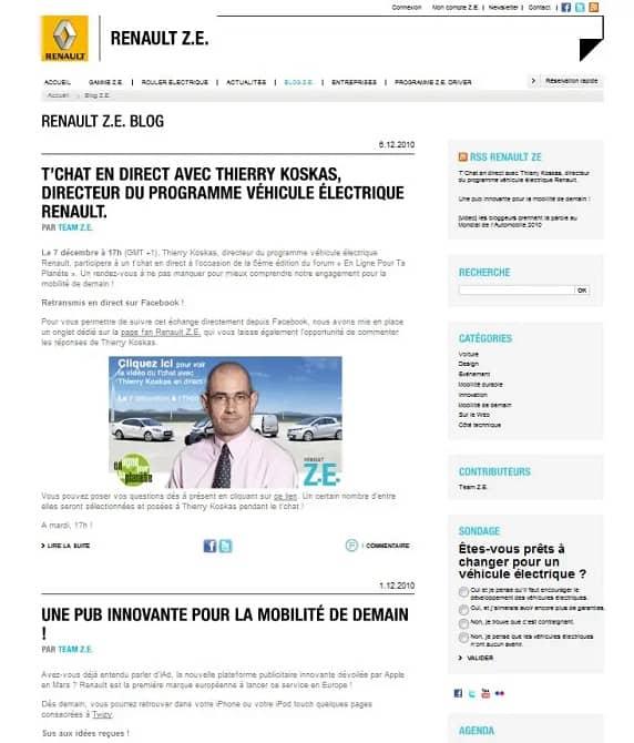 Le blog ZE de Renault