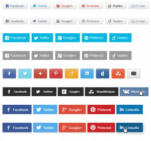 Icônes de boutons de partage sur les réseaux sociaux