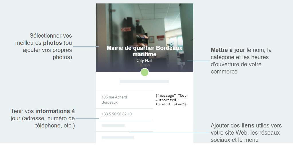 capture Foursquare for Business mairie de quartier Bordeaux