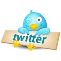 L'oiseau bleu de Twitter qui fait un clin d'oeil
