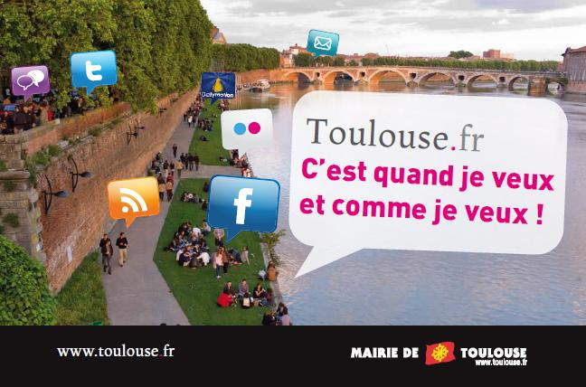 Toulouse sur les réseaux sociaux