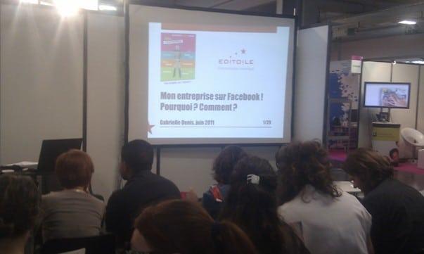 Atelier Facebook au Salon de l'entreprise aquitaine en 2011