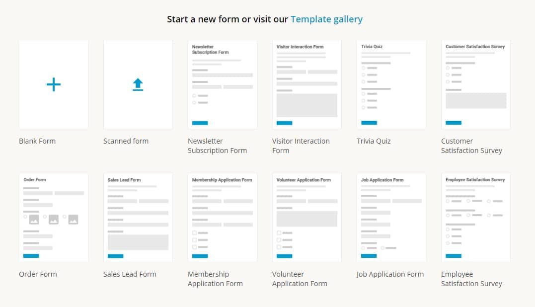 Créer et intégrer un formulaire sur son blog - choix de formulaires
