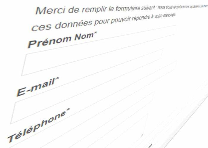 Un formulaire de contact déformé