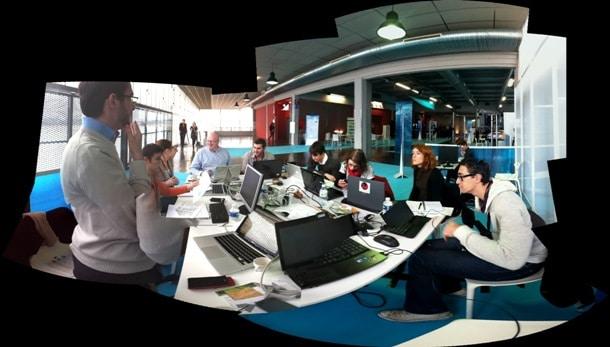 L'équipe du studio live de Metro'num