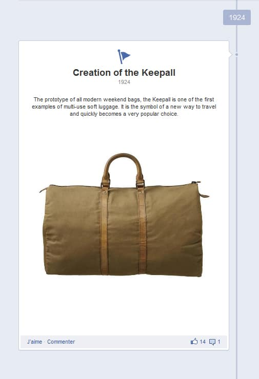 Moment-clé Facebook : Louis Vuitton