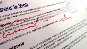 Réécrire un texte pour le Web