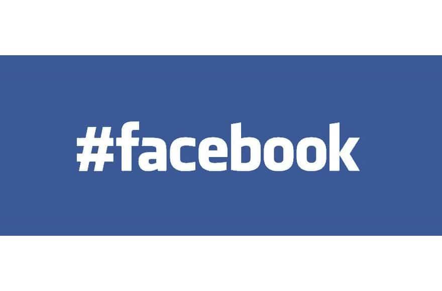 Le mot Facebook avec un dièse devant
