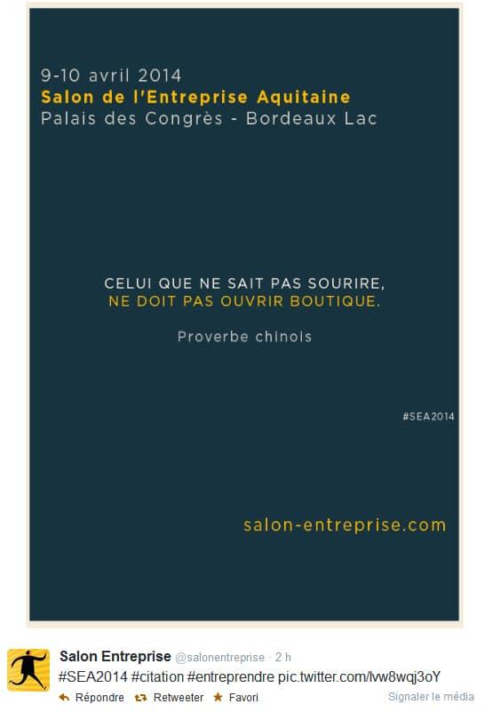 Salon de l'Entreprise Aquitaine 2014 - proverbe chinois - 2