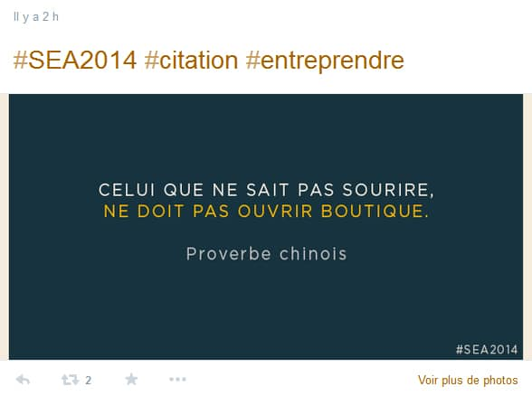 Salon de l'Entreprise Aquitaine 2014 - proverbe chinois