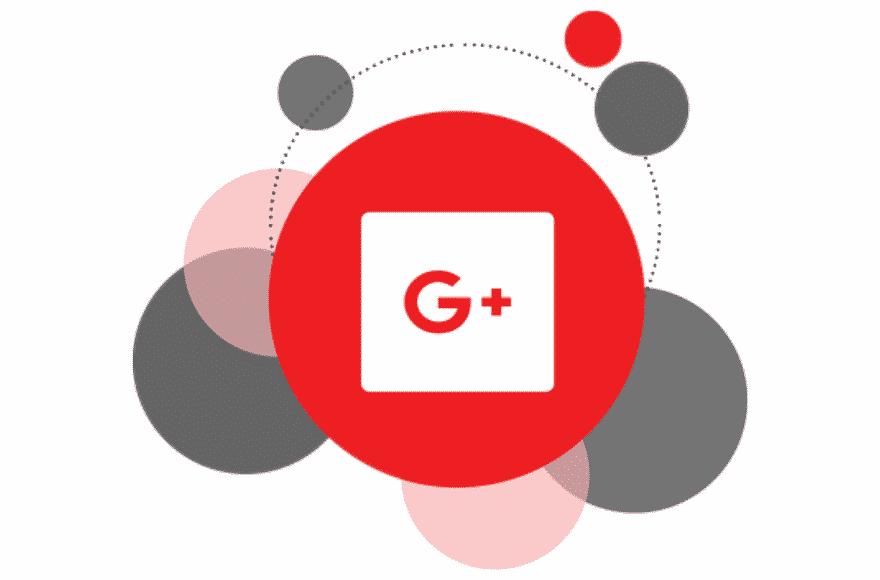 bulles de couleur avec logo de Google+