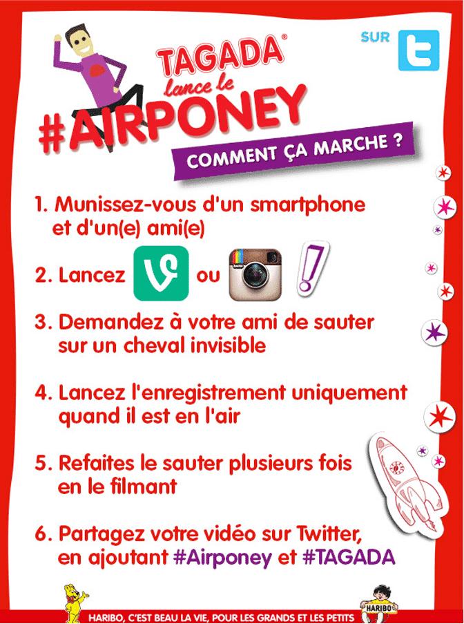 Règles du jeu Tagada #AirPoney de Haribo
