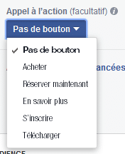 Les boutons call-to-action des Facebook Ads