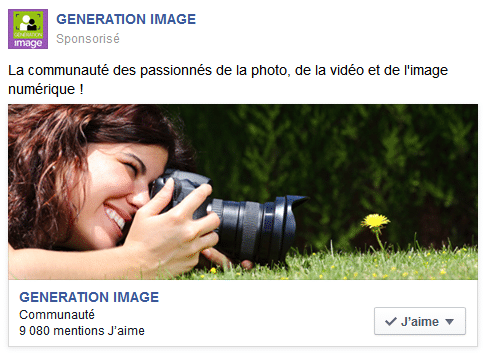 Facebook Ad pour Génération Image