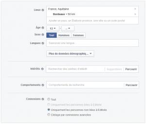 Facebook Ads : des critères très précis de ciblage