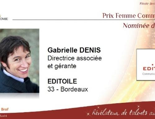 Gabrielle Denis élue «femme communicante» 2014 !