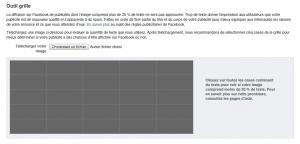 Capture écran - Outil grille pour les Facebook Ads