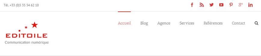Header Editoile - Réseaux Sociaux