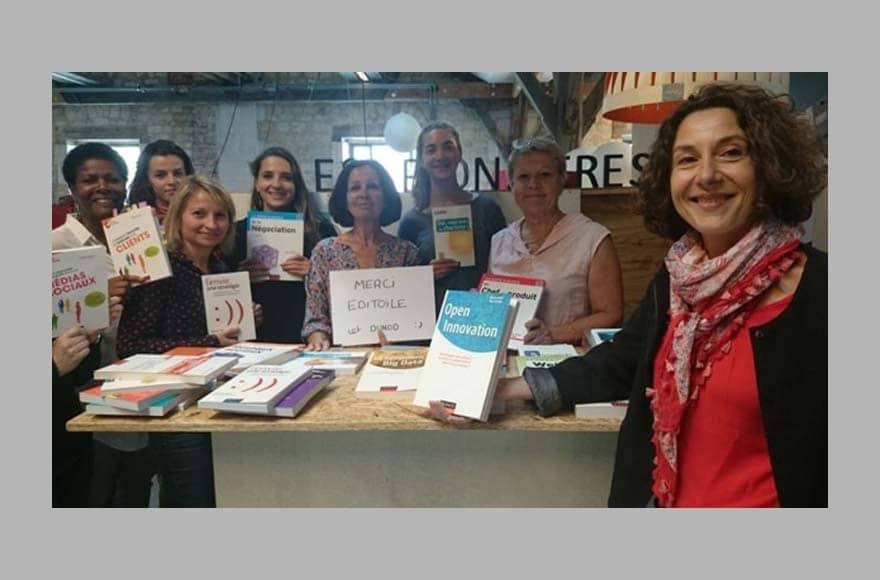 Des livres Dunod pour les créatrices d'entreprise accompagnées par Bordeaux Aquitaine Pionnières.