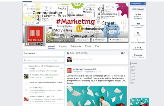 Facebook Marketing Community pour les éditions Dunod