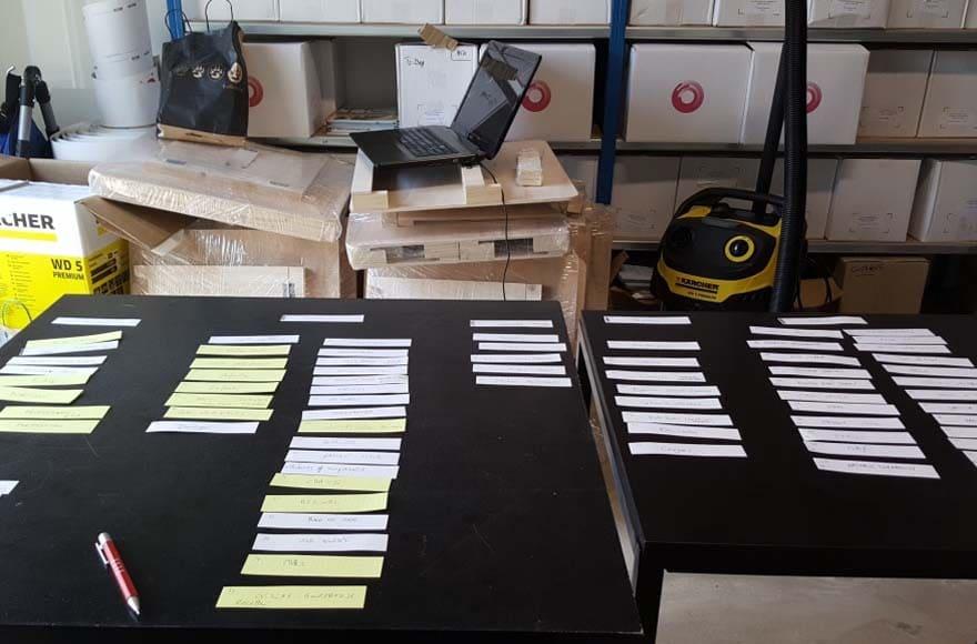 Atelier tri des cartes chez un client d'Editoile