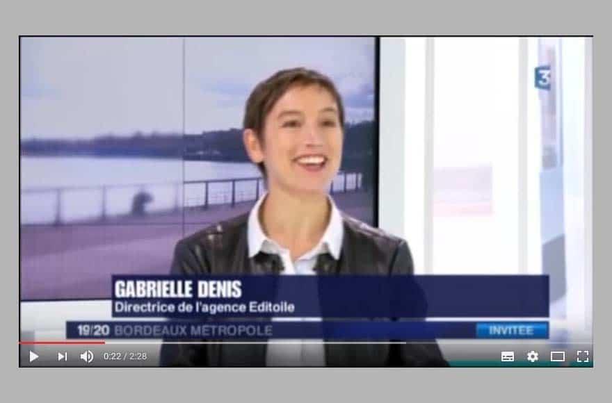Gabrielle Denis sur France 3 Aquitaine