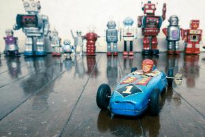 Robots vintage en pôle position