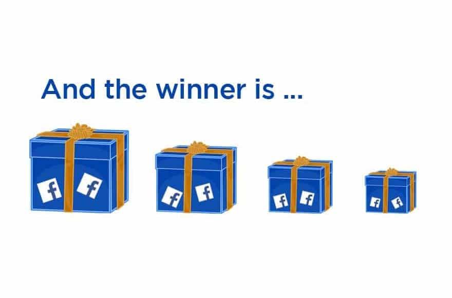 cadeaux de jeu-concours sur Facebook