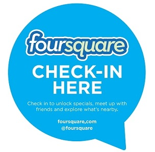 Sticker Check-in here de Foursquare