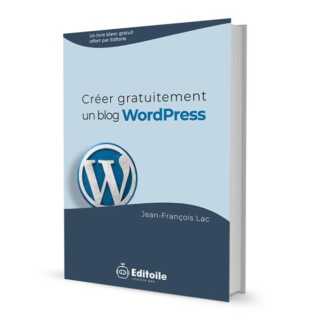 couverture livre blanc créer blog WordPress
