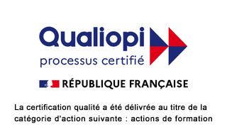 Logo Qualiopi de certification qualité délivré à notre organisme de formation