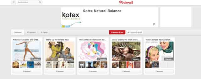 Tableaux Pinterest Kotex