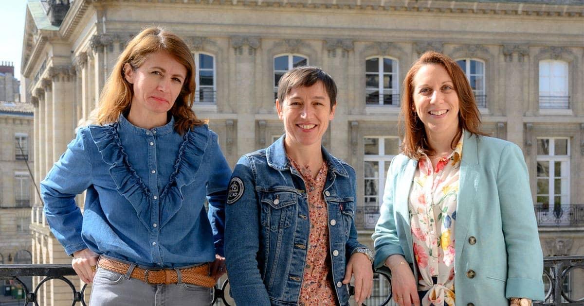Photos portraits extérieurs de Virginie Boillet, Gabrielle Denis et Céline Cordeau